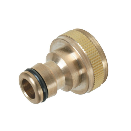 "Silverline 598438 Tap Connector Brass 3/4"" BSP - 1/2"" Male"